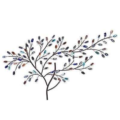 SEI Brenchan Metal/Glass Tree Wall Sculpture