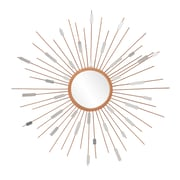 "SEI 36"" x 1.25"" Starburst Mirrored Wall Sculpture, Painted Gold"