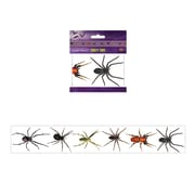 """Beistle 3"""" x 20' Spiders Party Tape, Clear, 5/Pack"""