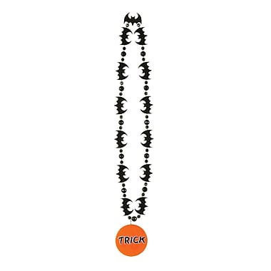 Bat Beads with Printed Trick Or Treat Medal, 33