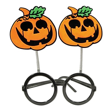 Jack-O-Lantern Bopper Glasses, One size fits most, 3/pack