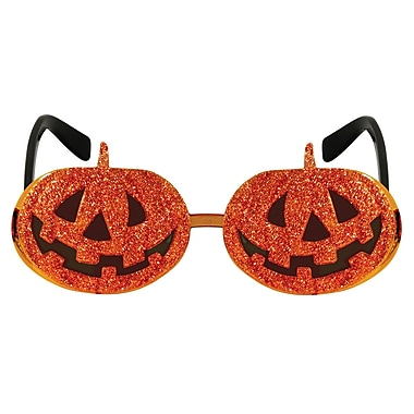 Glittered Jack-O-Lantern Fanci-Frames, One size fits most, 2/pack