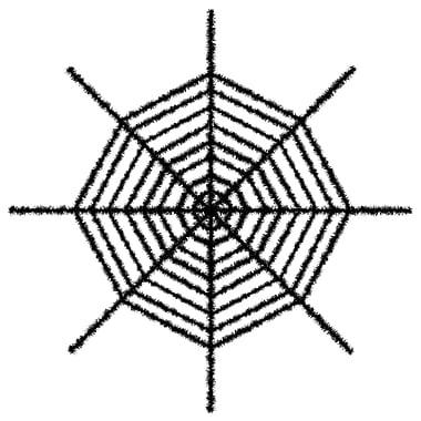 Beistle 6' Giant Shimmering Spider Web, Black