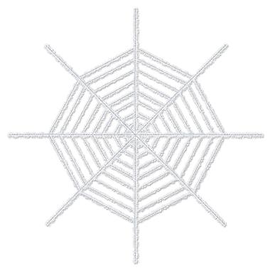 Beistle 6' Giant Shimmering Spider Web, White