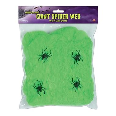 Sac ignifuge toile d'araignée géante, 2,1 oz, araignées de 2 po incluses, vert lime, paq./5