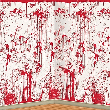 Bloody Wall Backdrop, 4' x 30'