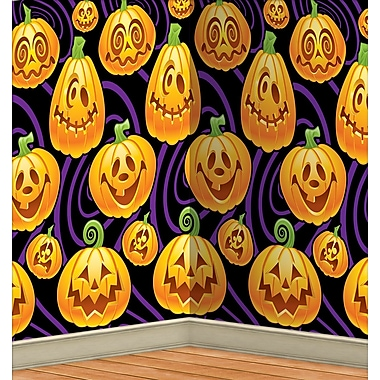 Jack-O-Lantern Backdrop, 4' x 30'