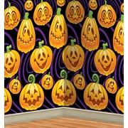 Beistle 4' x 30' Jack-O Lantern Backdrop
