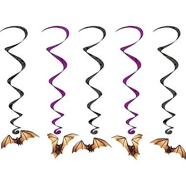 Tourbillons chauves-souris, 3 pi 4 po, noir et violet, paq./15