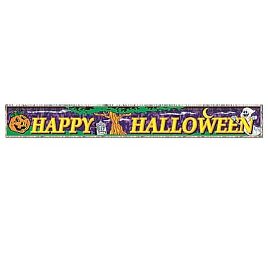 Metallic Happy Halloween Fringe Banner, 8