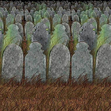 Beistle 4' x 30' Graveyard Backdrop