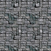 Toile de fond mur de pierre, 4 pi x 30 po