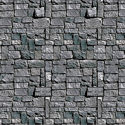 Beistle 4' x 30' Stone Wall Backdrop