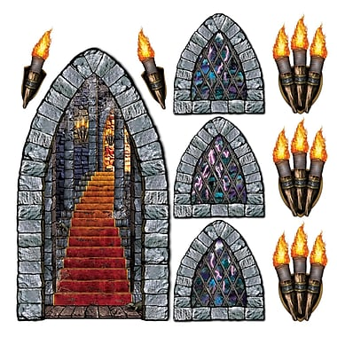 Stairway, Window and torch props, 18