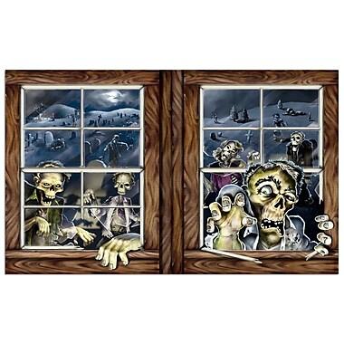 Toile de fond attaque de zombies, 3,2 x 5,2 pi, paq./2