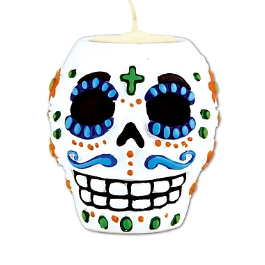 Day Of The Dead Male Tea Light Holder, Each balloon weight is 6 ounces, 3/pack