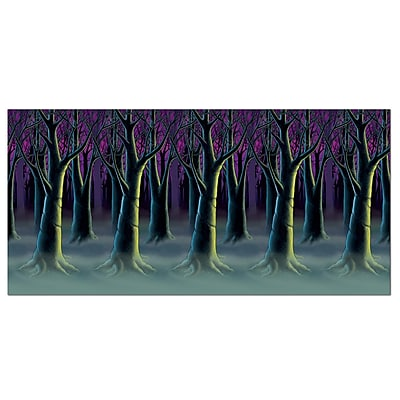 Beistle 4' x 30' Spooky Forest Trees Backdrop