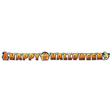Banderole Happy Scary Halloween, 5 1/2 po x 6 po, paq./4