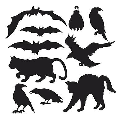 """""Beistle 5"""""""" - 12 1/2"""""""" Halloween Silhouettes, Black, 40/Pack"""""" 1066470"