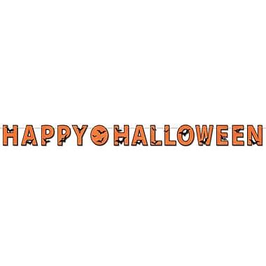 Glittered Happy Halloween Streamer, 8 1/2