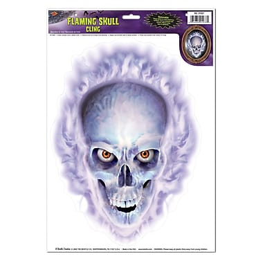 Flaming Skull Cling, 12