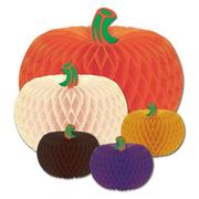 """Beistle 3"""" - 4"""", 1"""" - 7"""", 1"""" - 10"""" Designer Tissue Pumpkins, Assorted, 10/Pack"""