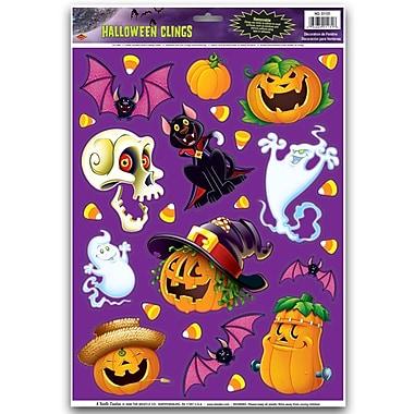 Autocollants personnages d'Halloween bêtes, feuilles 12 x 17 po, paq./7