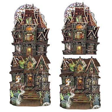 Jumbo Haunted House Cutouts, 24 1/2