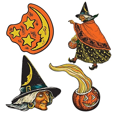 Découpes célébrités Halloween, 6 1/2 à 10 1/2 po, paq./8