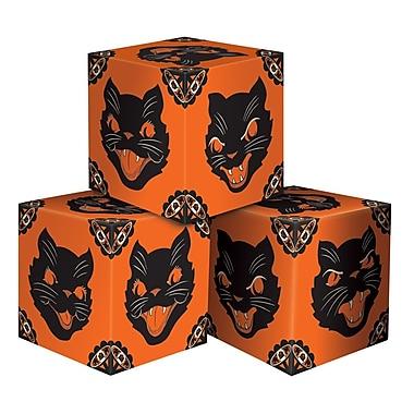 Boîtes de faveur Halloween chat, 3 1/4 x 3 1/4 po, paq./6