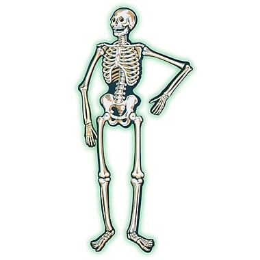 Squelette articulé fluorescent, 4,7 pi, paq./2