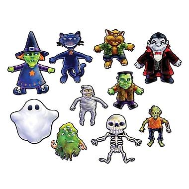 Mini découpes personnages d'Halloween, 5 1/2 à 10 1/2 po, paq./40