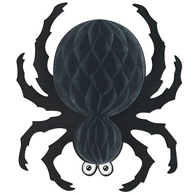 Grande araignée noire papier soie, 18 po, paq./2