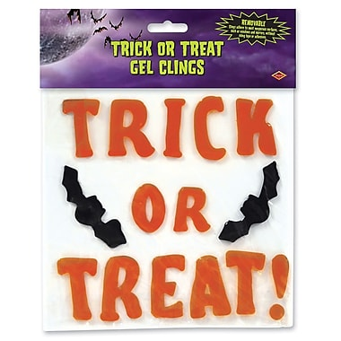 Trick Or Treat Gel Clings, 7 1/2