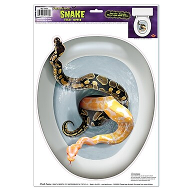 Snake Toilet Topper Peel 'N Place, 12