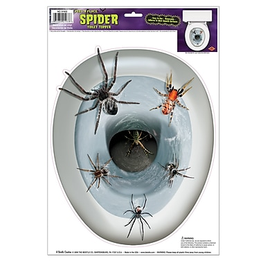 Spider Toilet Topper Peel 'N Place, 12