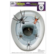 "Beistle 12"" x 17"" Spider Toilet Topper Peel 'N Place Sticker, 4/Pack"