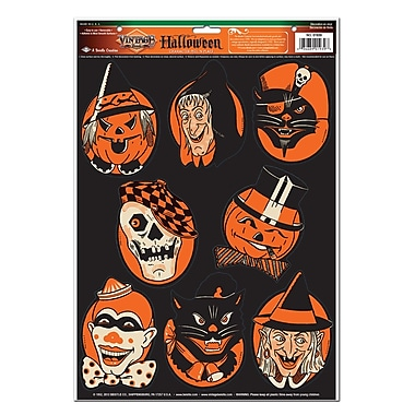 Peel'N Place – Personnages d'Halloween, feuille 12 x 17 po, paq./3