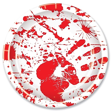 Bloody Handprints Plates, 9