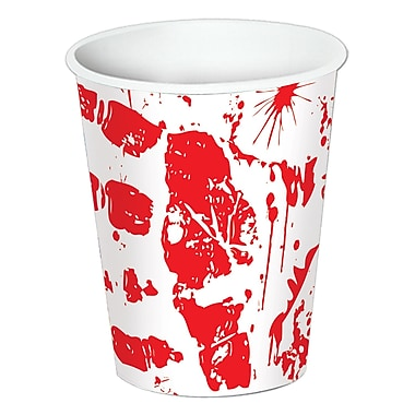 Bloody Handprints Cups Cup Holds 9 Ounces, 24/pack