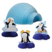 Beistle 4 inch & 9 inch Tabletop Igloo With Penguins, 12/Pack by