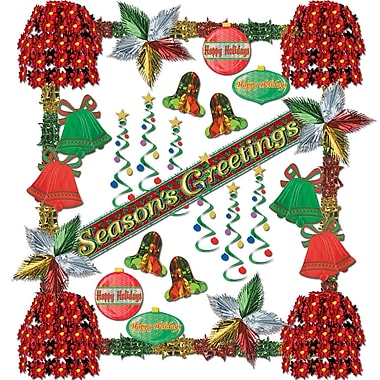 Beistle 31-Piece Season's Greetings Reflections Decorating Kit