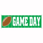 """Beistle 5' x 21"""" Game Day Football Sign Banner, 3/Pack"""