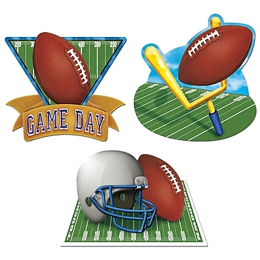 Découpes de football « Game Day », 18 po, 9/paquet