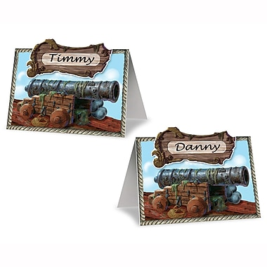 Marque-places canon de pirate, 2 1/2 x 4 po, 5/paquet