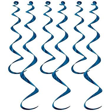 Déco en spirales, 24 po et 36 po, bleu, 18/paquet