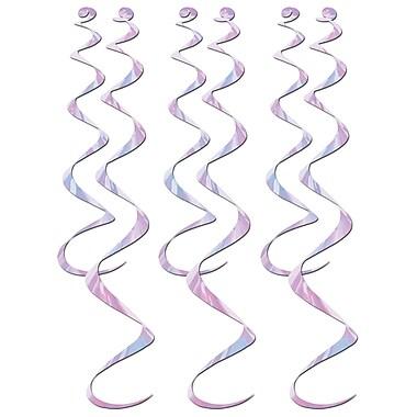 Déco en spirales, 24 po et 36 po, opalescente, 18/paquet