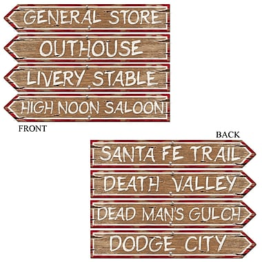 Western Sign Cutouts, 4