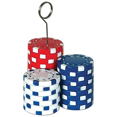 Beistle 6 oz. Poker Chips Photo/Balloon Holder, 3/Pack