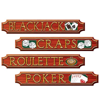 Casino Sign Cutouts, 4